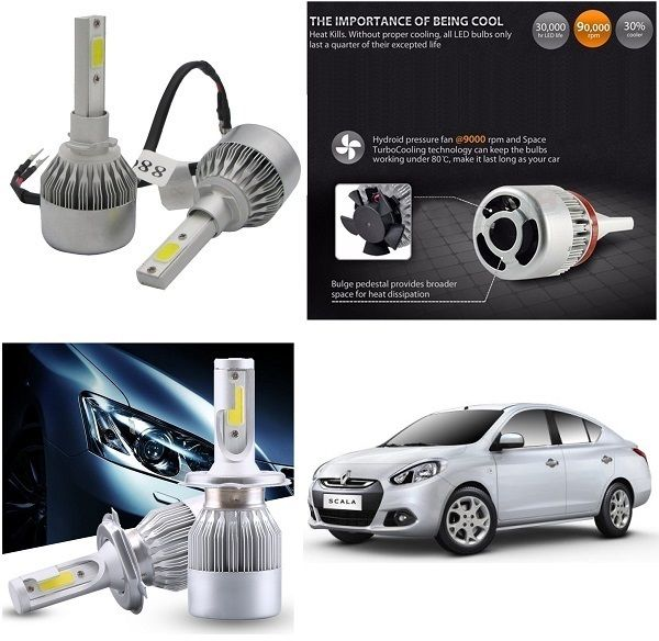 Buy Trigcars Renault Scala Car LED Hid Head Light online