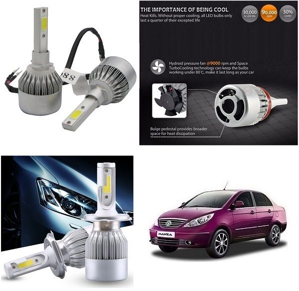 Buy Trigcars Tata Manza Car LED Hid Head Light online