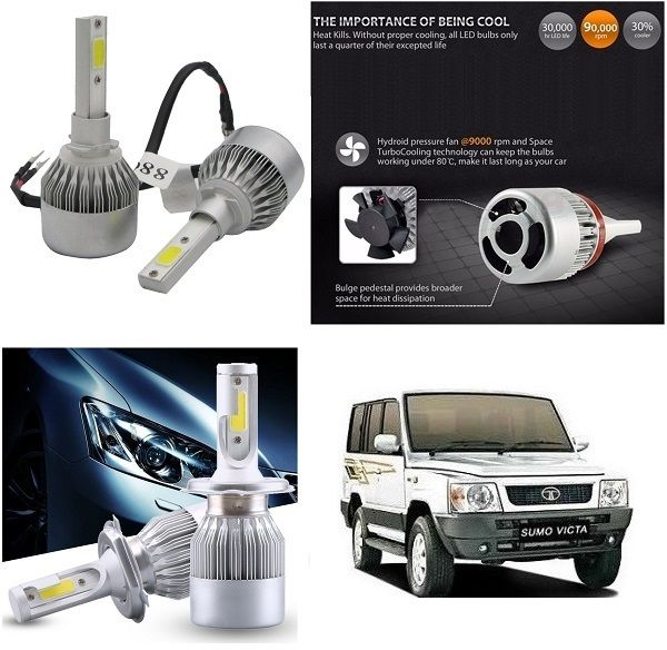 Buy Trigcars Tata Sumo Victa Car LED Hid Head Light online