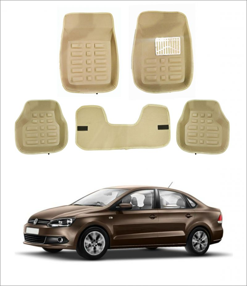 Buy Trigcars Car Carpet Cream Car Floor/foot Mats For Volkswagon Vento online