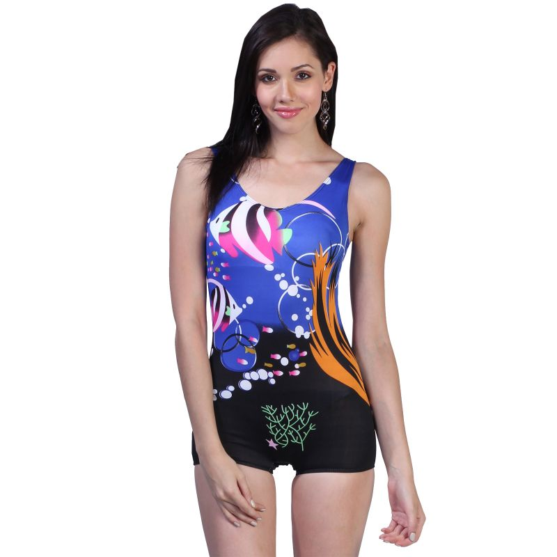 Buy Fascinating Lingerie - Multi Colored Modern Print Adorable One Piece Swim-Suit online