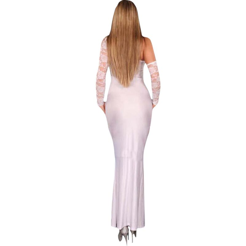 f2a8cd6f0e4 Buy Fascinating Lingerie Trendy Ladies Evening Gown White Online ...