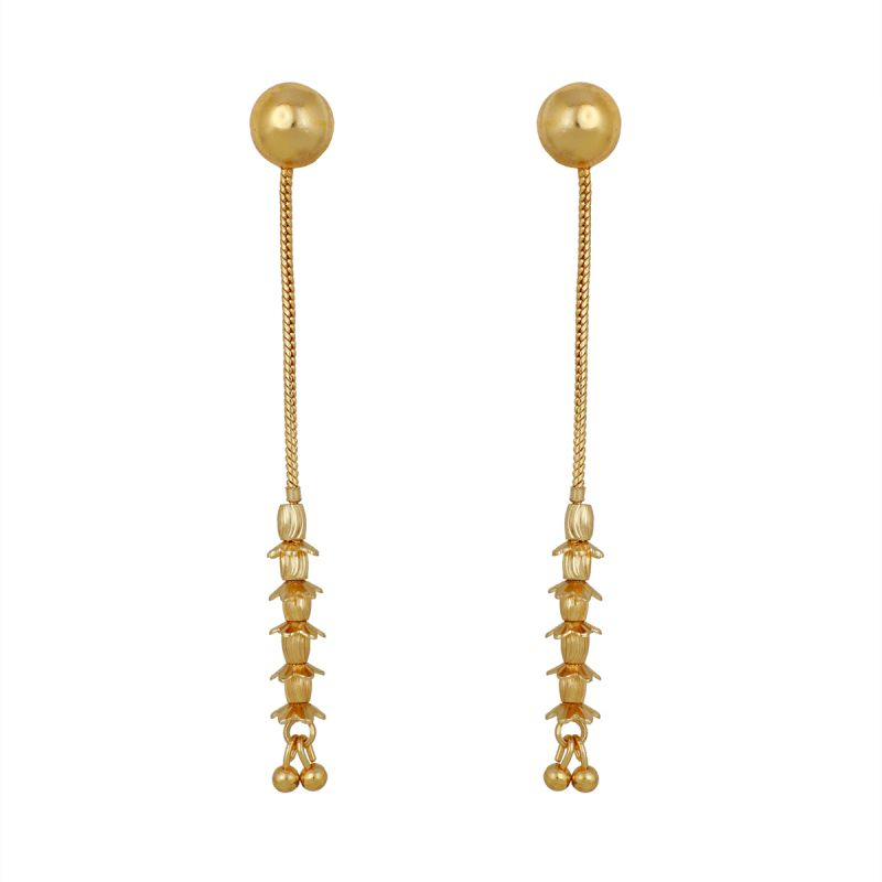 Buy Piah Gold plated Stud cum dangler stylish Fashion earrings women latest design online