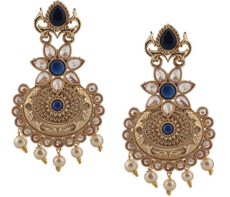 1b41c3b85 Buy Piah Fashion Stylish Royal Blue Earrings pearl Earring for Women ...