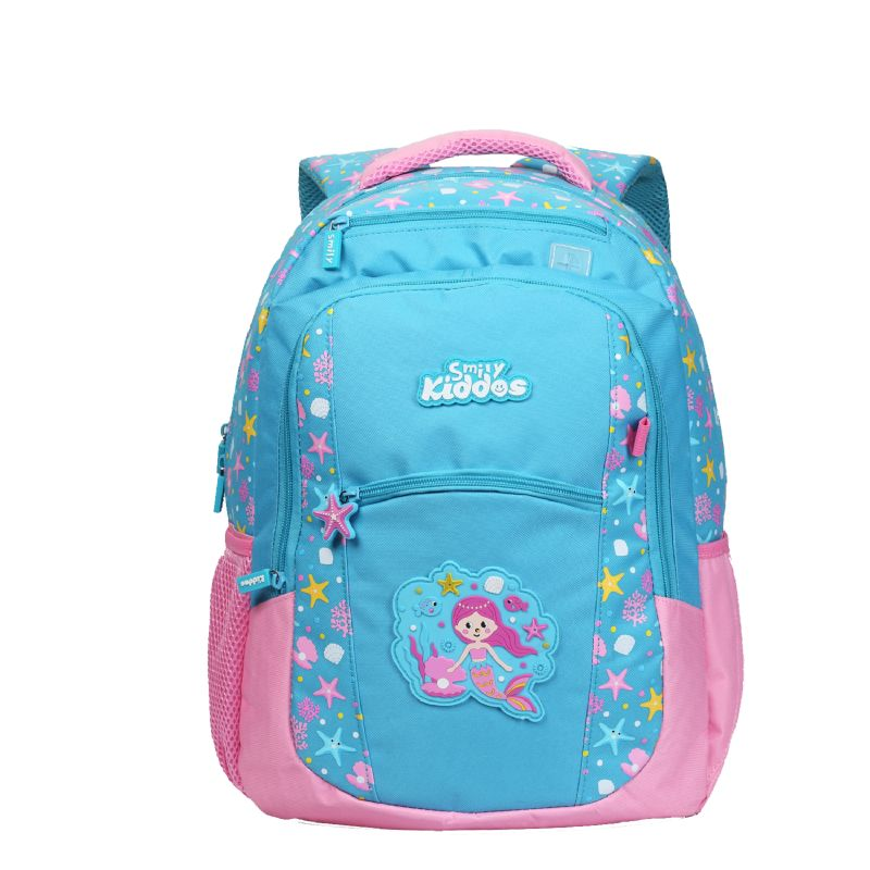 Buy Smily Kiddos Smily Dual Color Backpack (light Blue) online