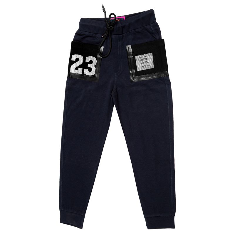 Buy Gusto Navy Blue Poly Cotton Relaxed Jogger Pants for Boys online