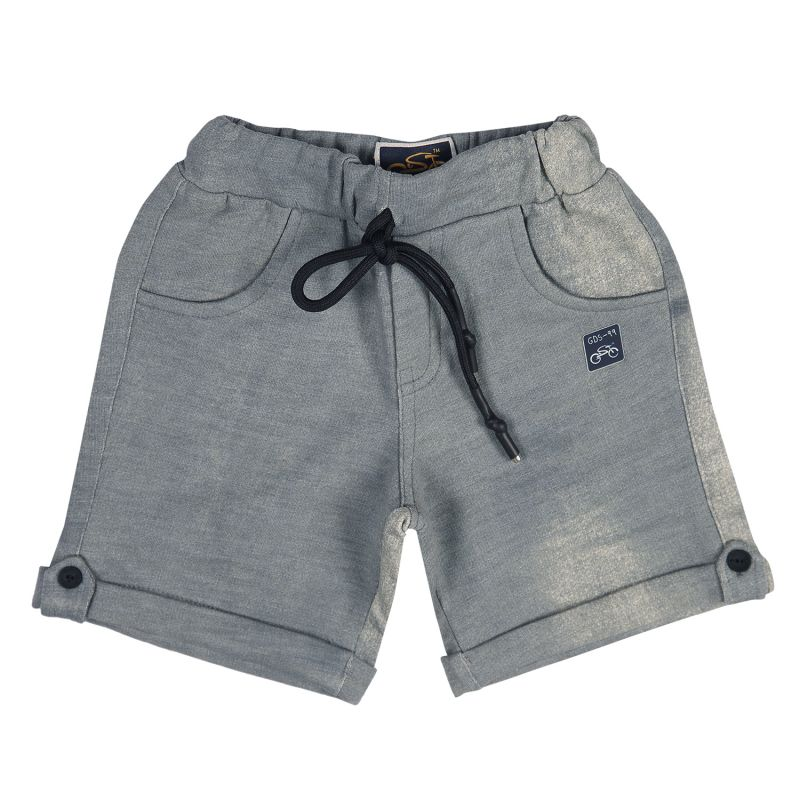 Buy Gusto Baby Boy's Green Cotton Blend Relaxed Shorts online