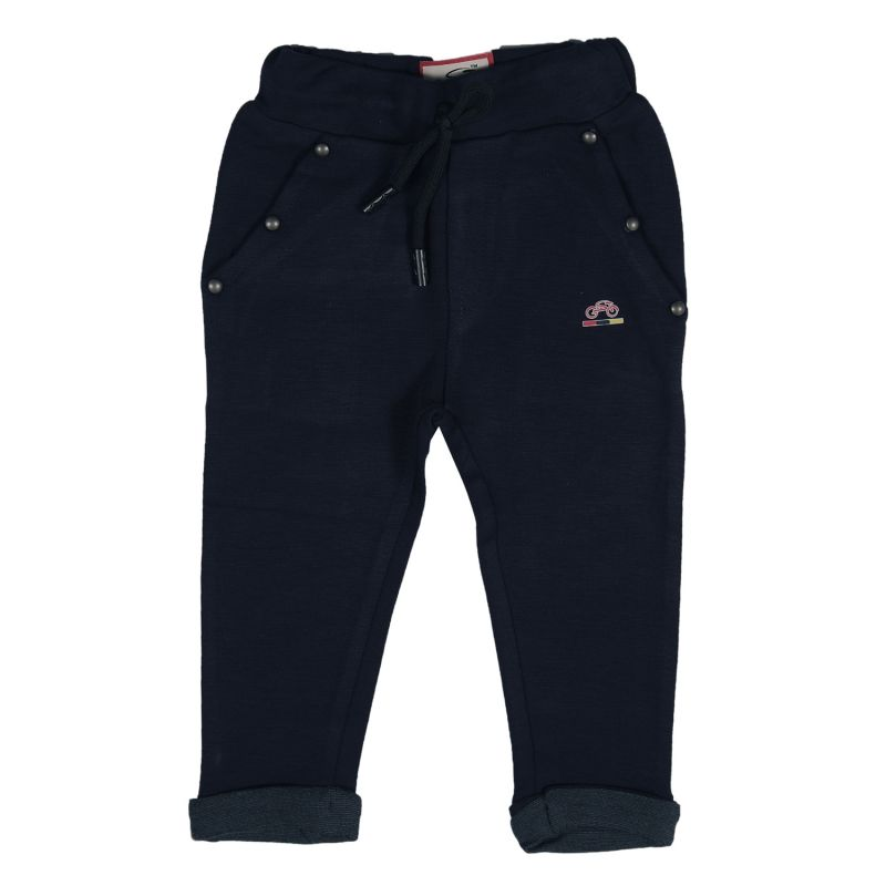 Buy Gusto Baby Boy's Solid Blue Cotton Regular Fit Jogger Pants online
