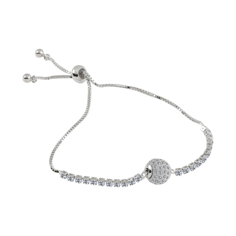 Buy Silver Shine Exclusive Silver Diamond Ball Pendent Bracelet Jewelry - ( Code - Nm-727 ) online