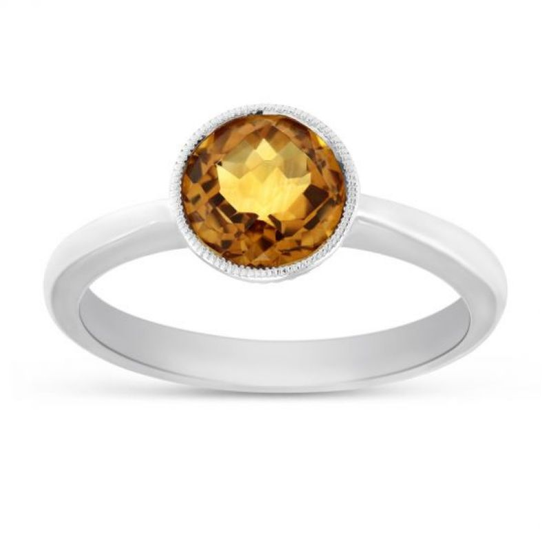 Buy Natural Citrine Silver Ring For Women & Men Original & Semi- Precious Stone 6.25 Ratti Gemstone Ring ( Code- Cey0001) online