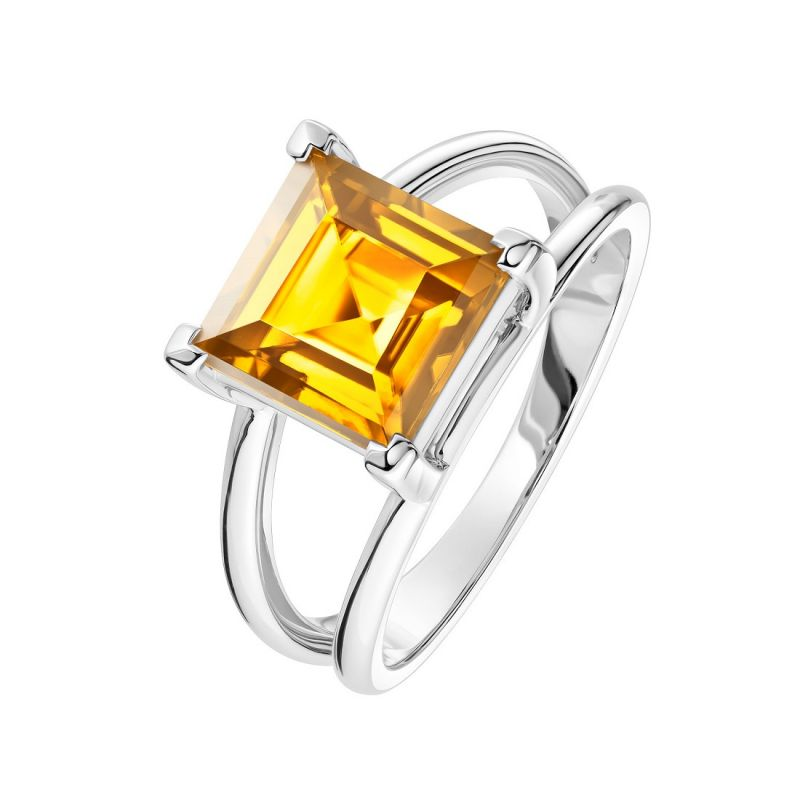 Buy Citrine 7.25 Ratti Stone Silver Beautiful Ring For Unisex (code- Cey0013) online