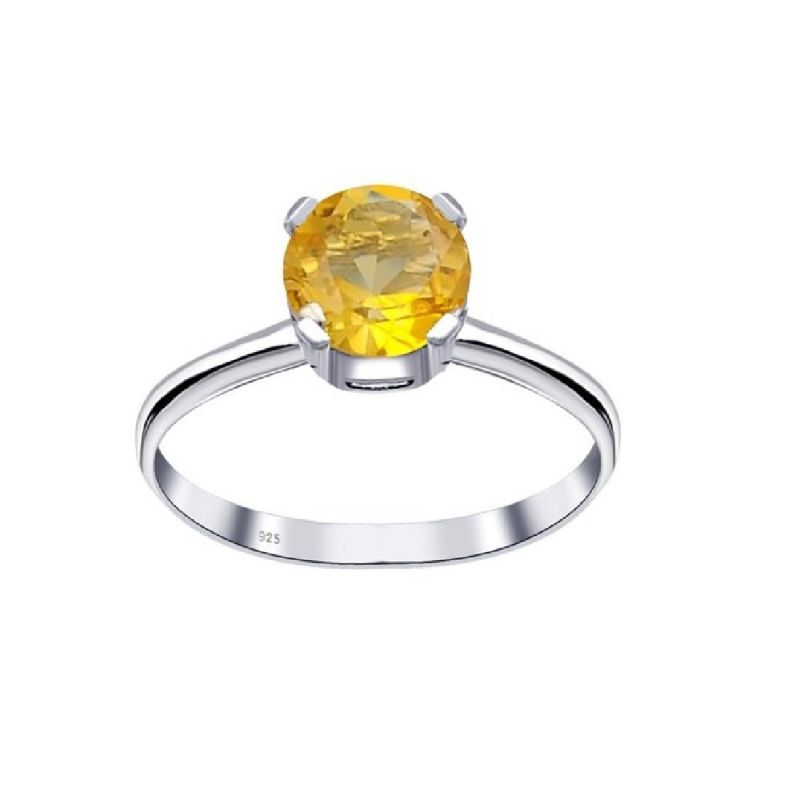 Buy Natural Citrine 5.25 Carat Stone Silver Ring (code- Cey0009) online