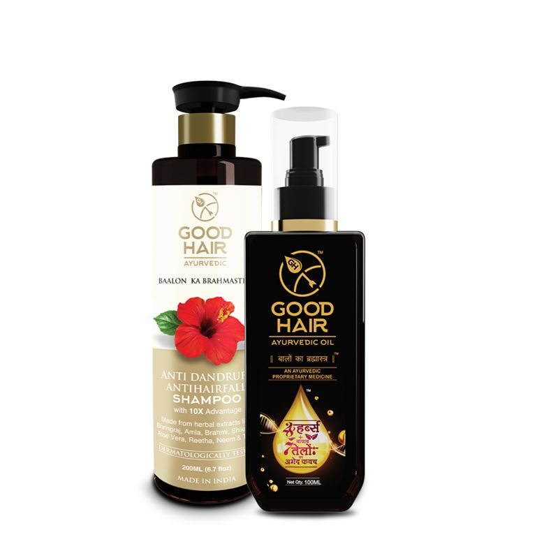 Buy Good Hair Ayurvedic Combo Kit Hair Oil And Shampoo - ( Code - Gh_mfn_comkithosam ) online