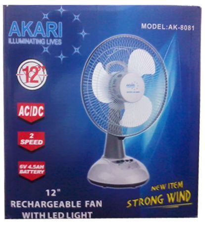 Buy Akari 12 Rechargeable Table Fan Online Best Prices In India