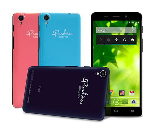 Buy 3go Pandorea Droxio 5.0' HD 8GB ROM 1GB RAM With 3 Different Color Mobile Covers Dual Sim Smartphone online