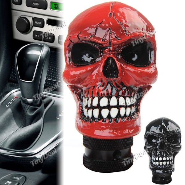Buy Skull Head Style Car Head Shift Knob Gear Knob Automobile ...