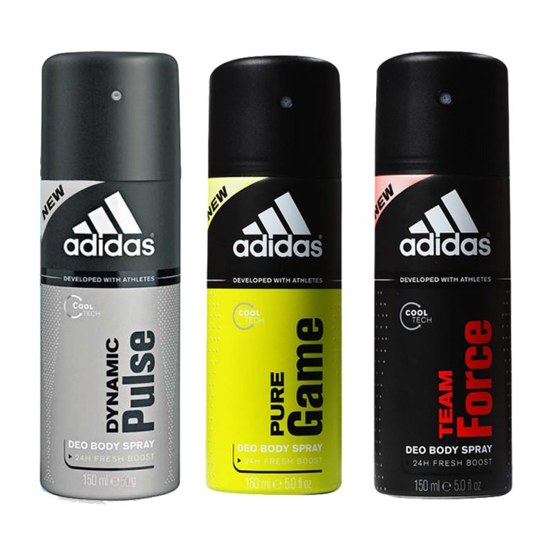 Buy Adidas Set Of 3 Deodorants -( Pulse , Game & Force online