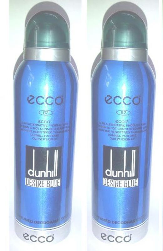 Buy Set Of 2 Ecco 62 Dunhill Desire Blue Perfumed Deodorant Spray 200 Ml online