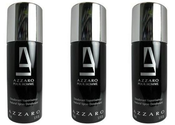 Buy Set Of 3 Azzaro Black Deodorant 200 Ml online