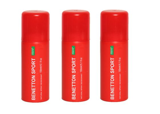 Buy Set Of 3 Benetton Sport Woman Natural Spray Deodorant - 200 Ml online