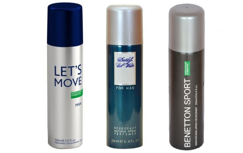 Buy Combo Of Benetton Sports Men , Let's Move & Davidoff Cool Man -200 Each online