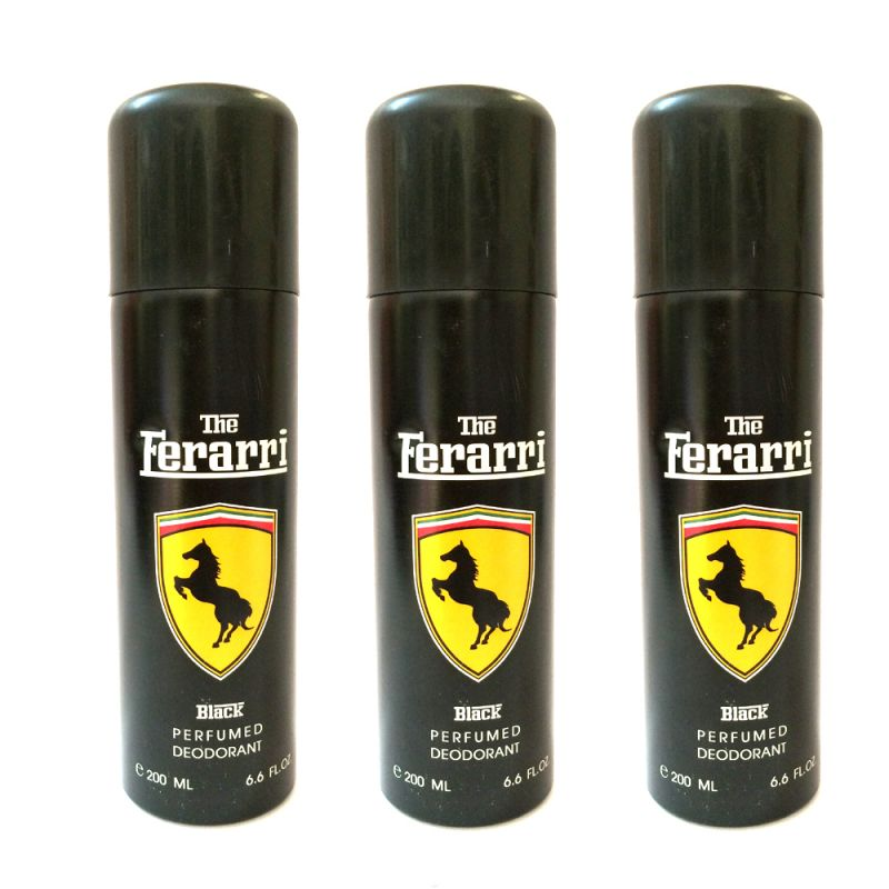 Buy Ferrari Black Deodorant Pack Of 3 online