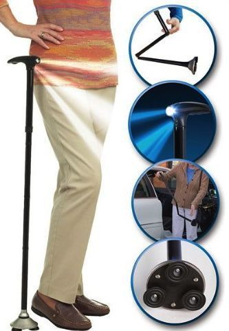 Buy Trusty Cane Walking Triple Head Pivoting Base With LED Light Multipurpose online