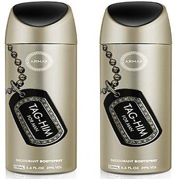 Buy Set Of 2 Armaf Tag Him Deodorant Spray - For Men (200 Ml) online