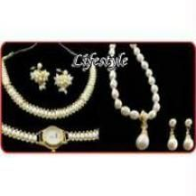 Buy 2 Pearl Sets With Watch online