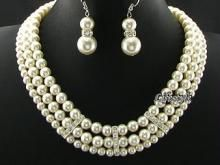 Buy 3 Line Party Wear Shell Pearl Set !!! P3 online