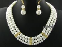 Buy 3 Line Party Wear Shell Pearl Set online
