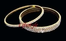 Buy Gold Plated Cz Diamond Bangles online