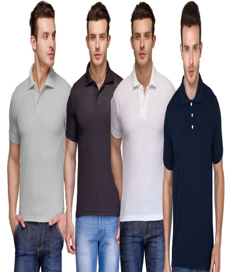 Buy Men's Assorted Formal T Shirts- Pack Of 4 online