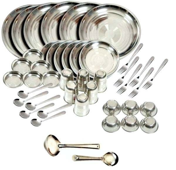 Buy Premium Quality Stainless Steel 124 PCs Dinner Set online