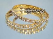 Buy 22crt Gold Forming American Diamond Bangles online