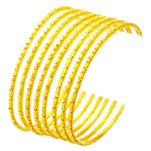 Buy 22crt Gold Plated Bangle Set Of 6 online
