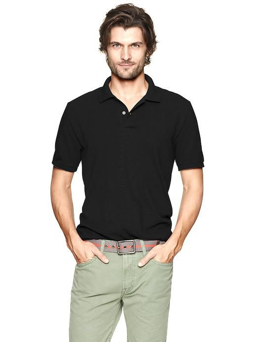 Buy Smart Black Polo Collar T Shirt For Men Online | Best Prices ...