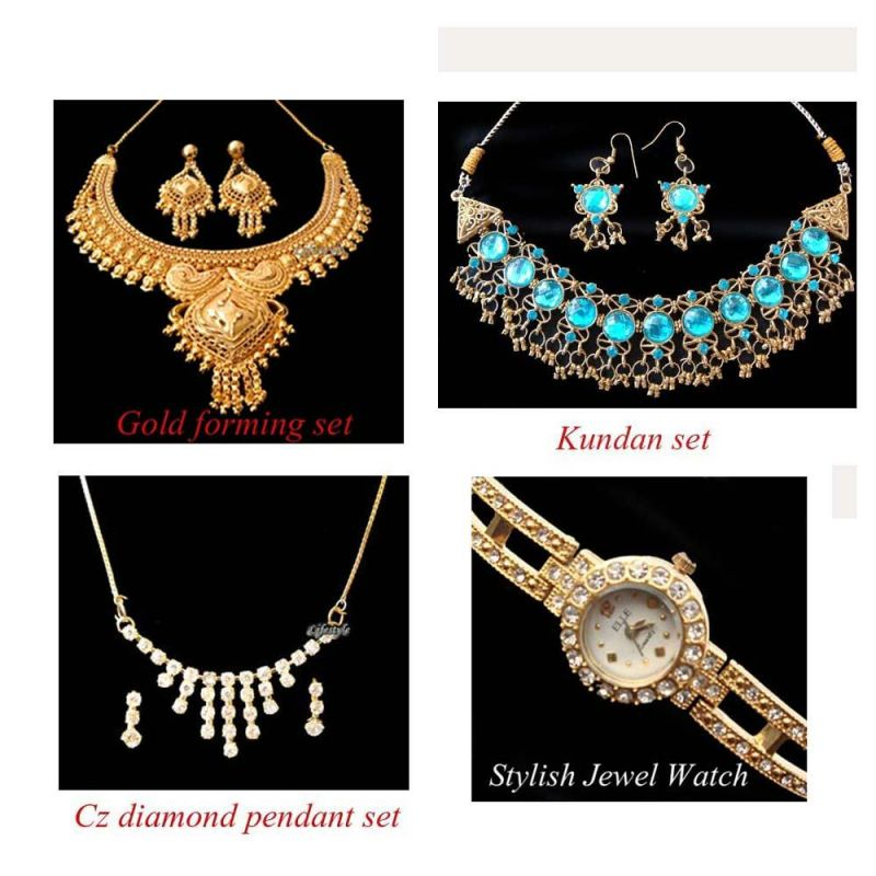 Buy Exclusive Jewellery Combo With Free Watch online