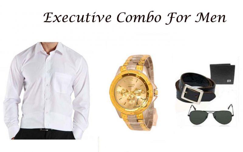 Buy Exclusive Combo For Men White 107 online