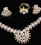 Buy Ethnic Heavy American Diamond Set With Ring online