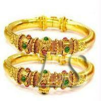 Buy Jewellery Gold Plated Ethnic Kada (pair) online