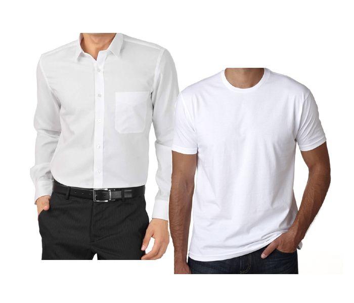 Buy Pack Of White Shirt & T Shirt......lswhites online