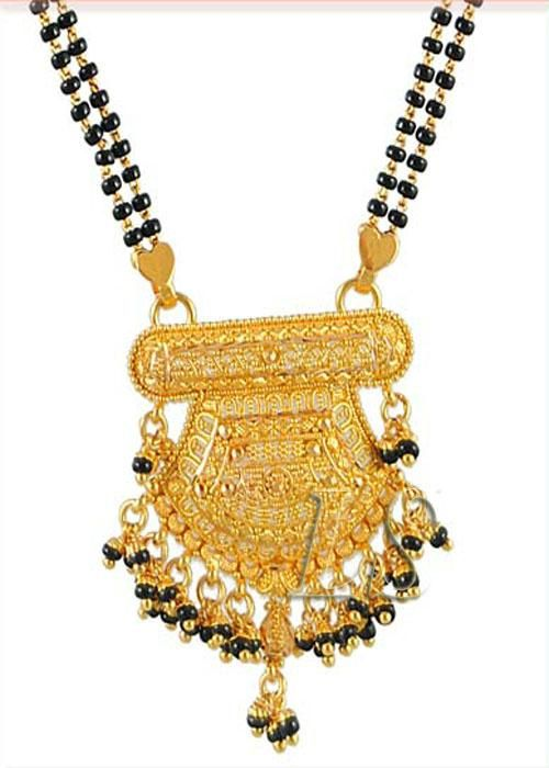 Buy Ethnic Heavy Gold Forming Mangalsutra online