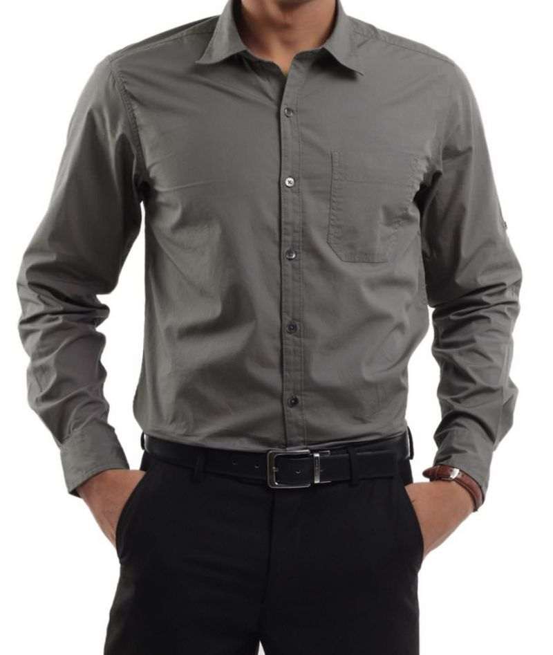 Buy Executive Formal Grey Shirt For Men..lsgrey Online | Best ...