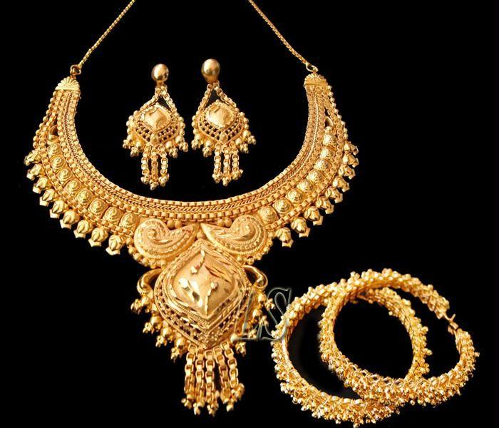 Buy Gold Plated Set With Ethnic Adjustable Kada online