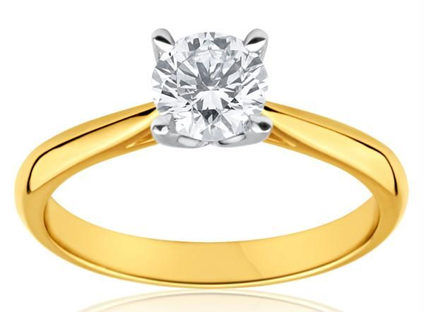 Buy 22crt Gold Plating Solitaire American Diamond Ring line