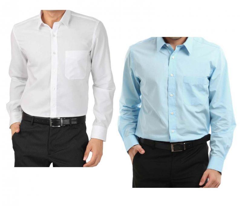 Buy Buy White Shirt & Get Light Blue Shirt Free.....lswhlb4 Online ...