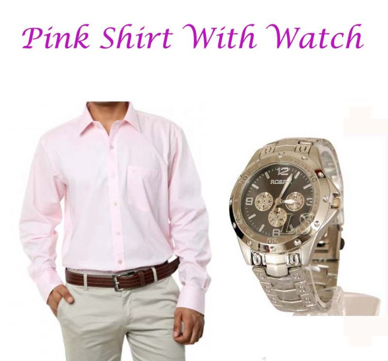 Buy Pink Shirt With Watch ...105 online