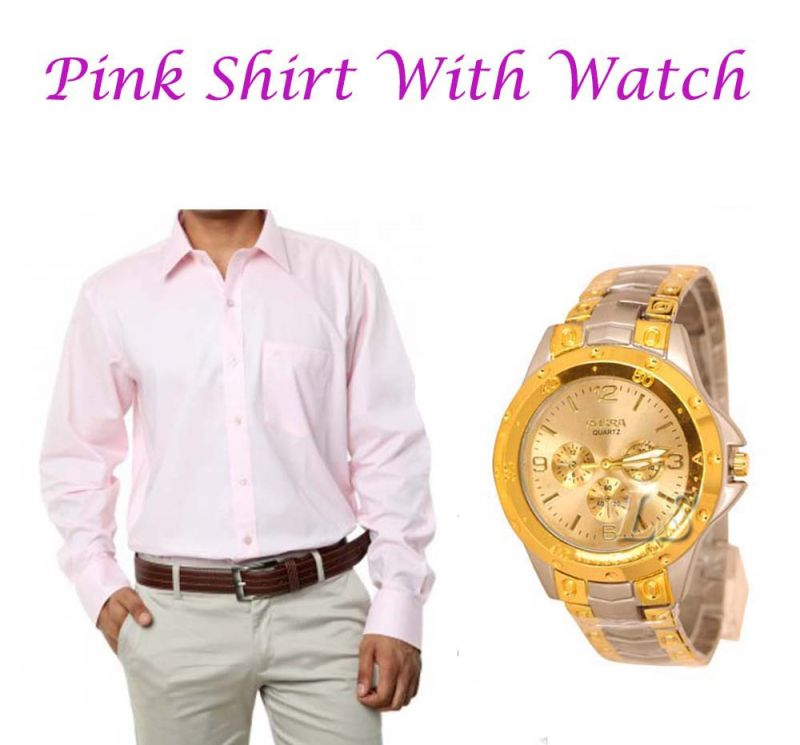 Buy Pink Shirt With Watch...107 online