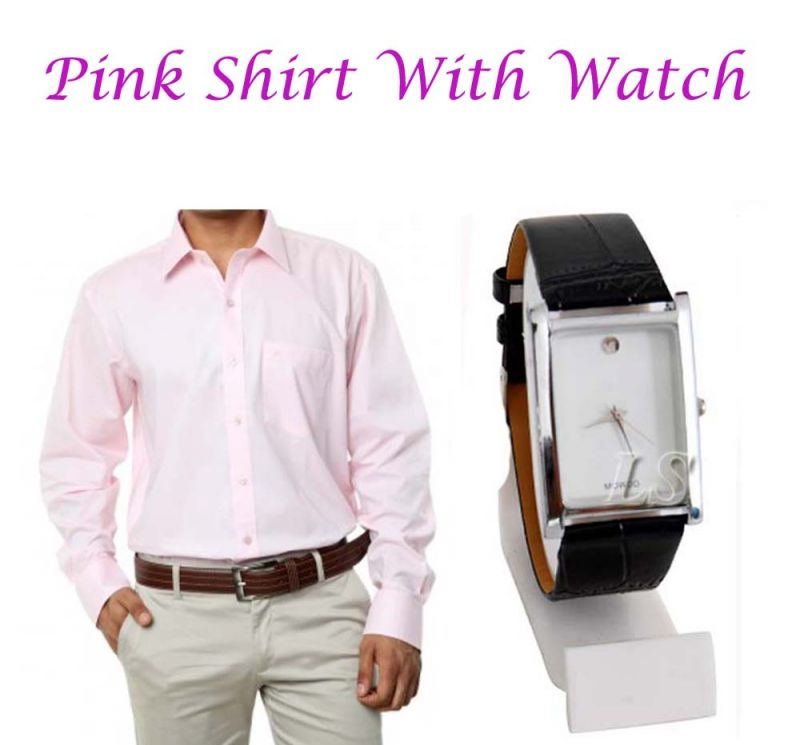 Buy Pink Shirt With Watch...114 online